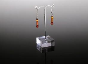 Natural cognac amber earrings