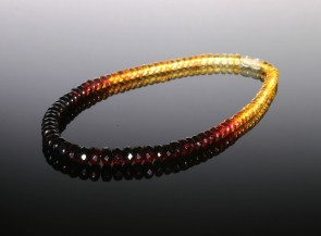 Natural faceted amber necklace