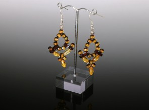Natural faceted amber dangle earrings