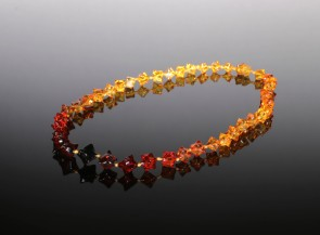 Natural amber rainbow necklace