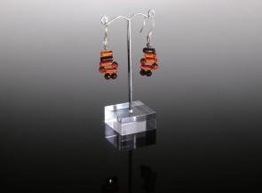 Natural amber dangle earrings