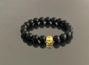 Natural black amber bracelet