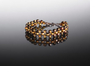 Natural amber faceted bracelet