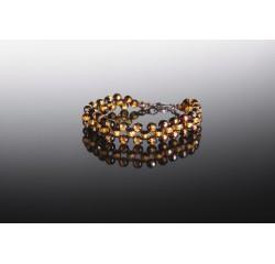 Natural amber faceted bracelet