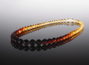Multicolor natural amber necklace