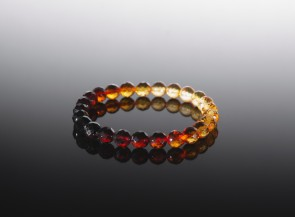 Natural amber bracelet multicolor