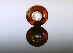 Natural amber bead for PANDORA bracelet