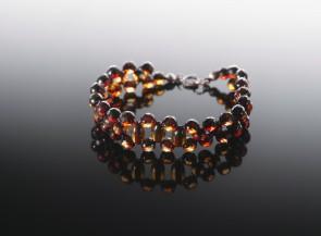 Natural amber green bracelet