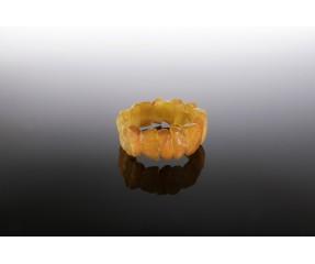Natūralaus geltono matinio gintaro apyrankė