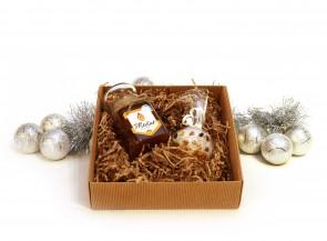 Kalėdinis medus ir žvakė