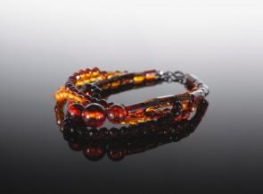 Natural amber bracelet Loops