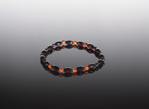 Multicolor natural amber bracelet