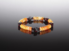 Natural amber multicolor bracelet