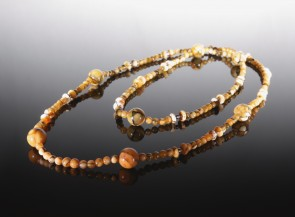 Long natural amber necklace