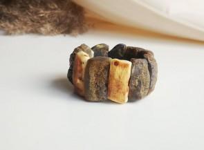 Natūralaus gintaro karamelės atspalvio apyrankė