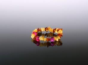 Natural amber baby bracelet