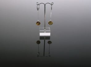 Amber earrings with sterling silver