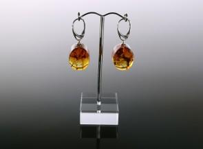 Cognac amber earrings