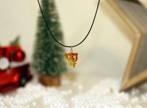 Kids amber pendant angel