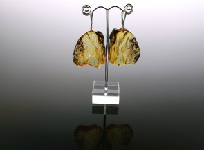 Natural amber earrings