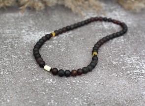 Black amber necklace