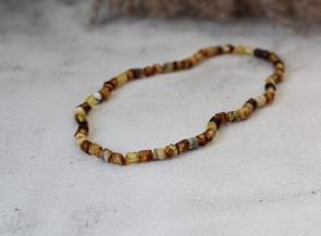 Natural amber multicolor men's necklace