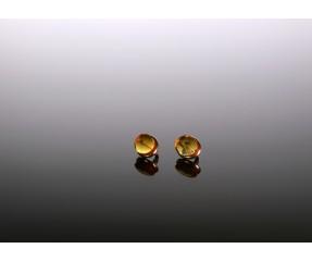 Auksiniai auskarai su gintaro inkliuzais