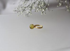 Sidabrinis žiedas su gintaru