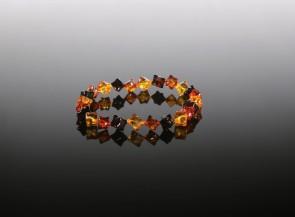 Natural faceted amber bracelet