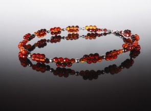 Natural cognac amber necklace