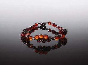 Natural cognac amber bracelet