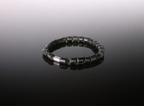 Natural amber black men's bracelet