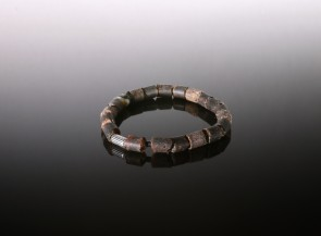 Natural amber raw black men's bracelet