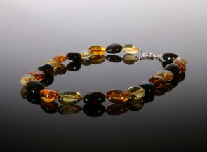 Natural multicolor amber necklace