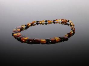 Natural amber multicolor collar Cleopatra