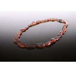 Natural cognac amber necklace