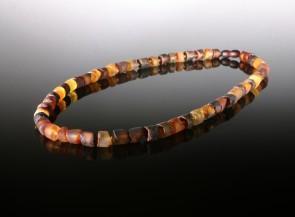 Natural amber men's necklace