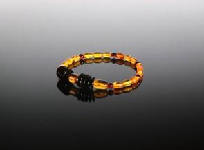 Natural amber multicolor bracelet