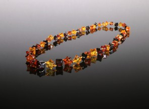 Natural amber multicolor necklace